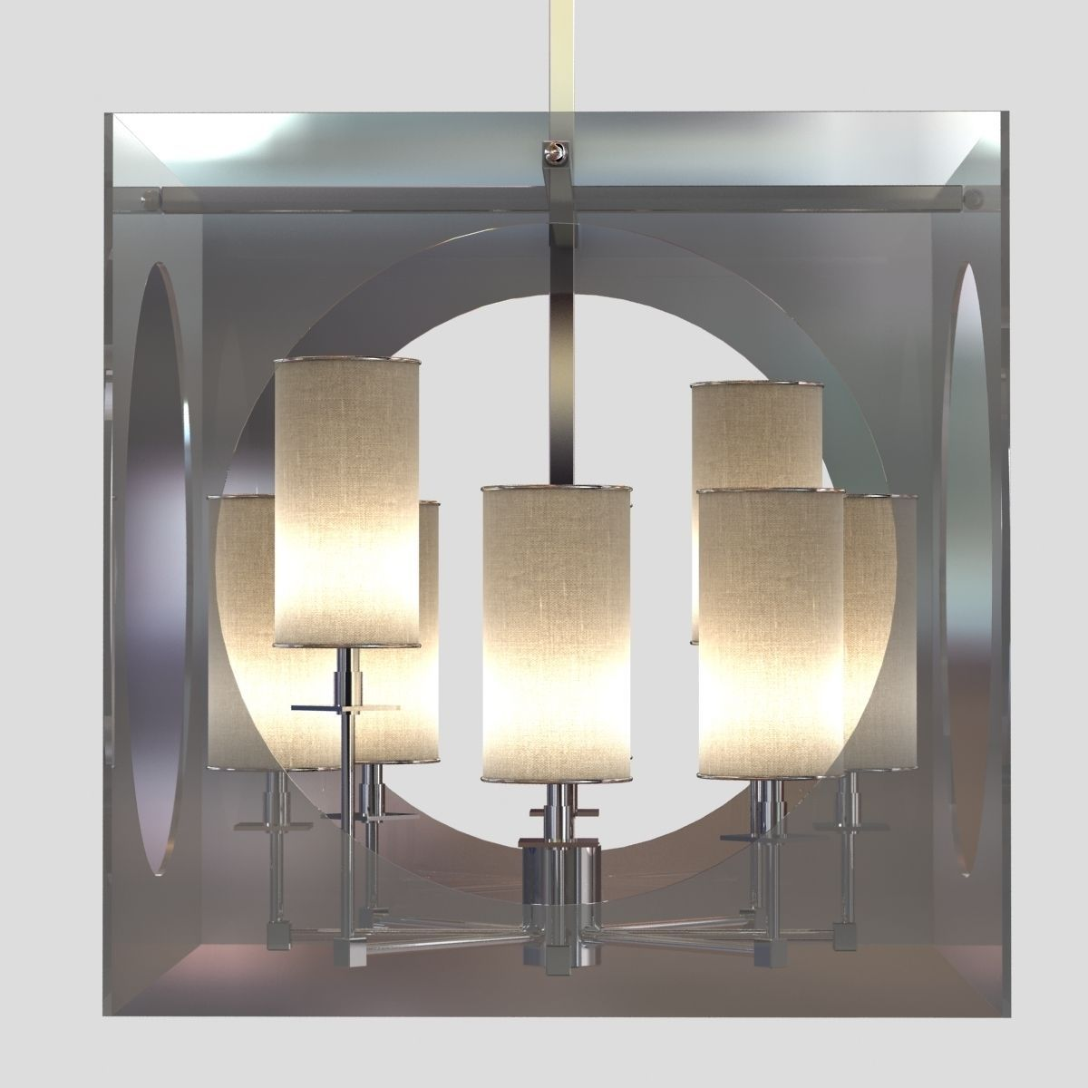 Regina andrew lighting -  Regina Andrew Lighting Acrylic Cube Chandelier 3d Model Obj 3ds Fbx Mtl 4