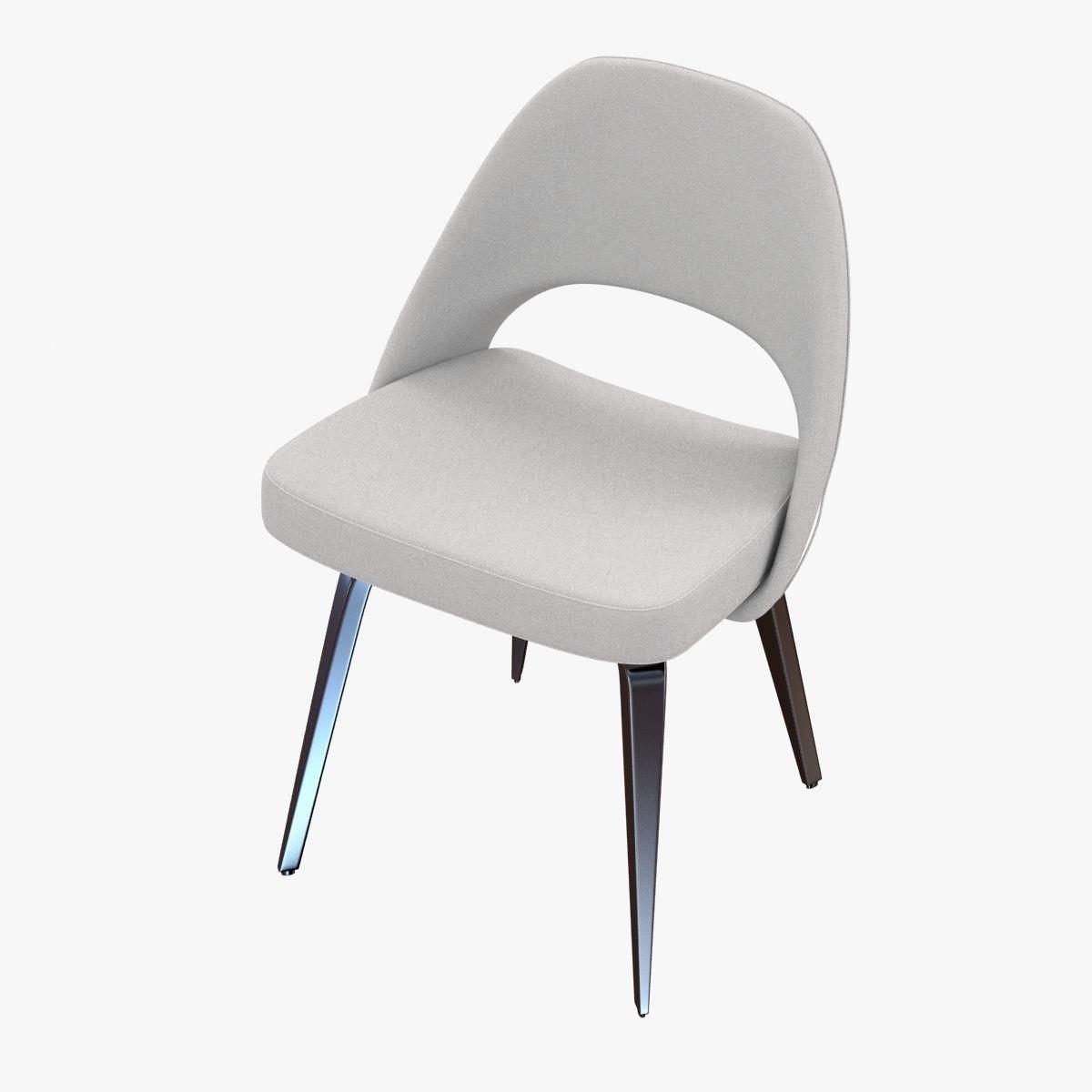 Saarinen Executive Side Chair 3d Model Max Obj 3ds Fbx Mtl 2