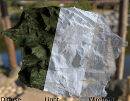 realtime sharp scanned rockwall game-ready 3d asset