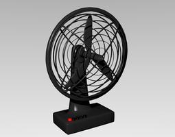 3D asset Desk Fan