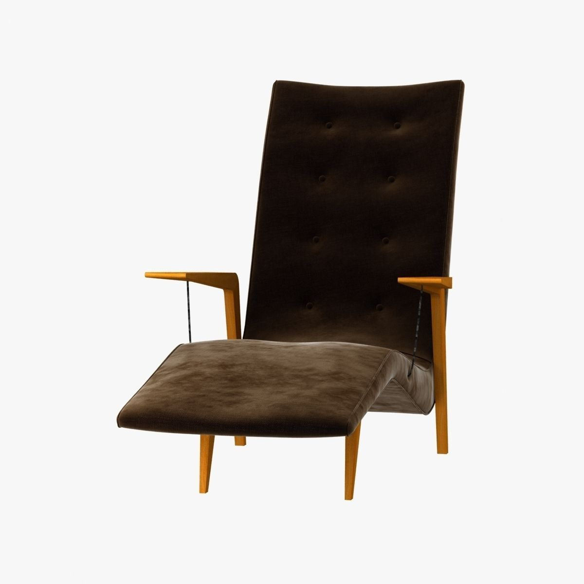 Chaise lounge by joaquin tenreiro 3d model max obj 3ds for Chaise modele