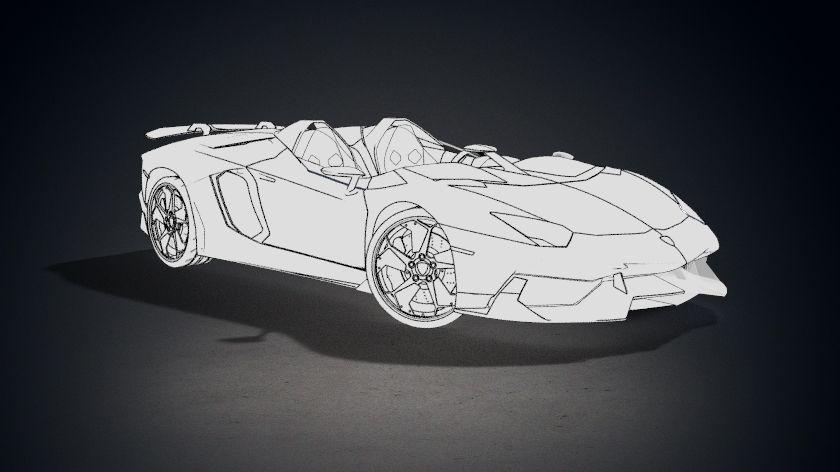 lamborghini aventador j 3d model max obj 3ds fbx stl mtl 8