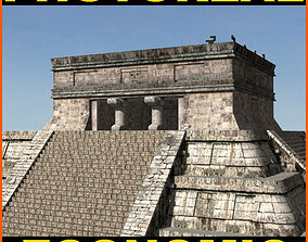 Photoreal Mayan temple - 3d model pyramid
