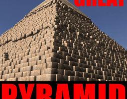 the great pyramid - 3d model 3d model max obj