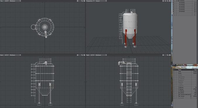 cement silo 3d model lwo lw lws 1