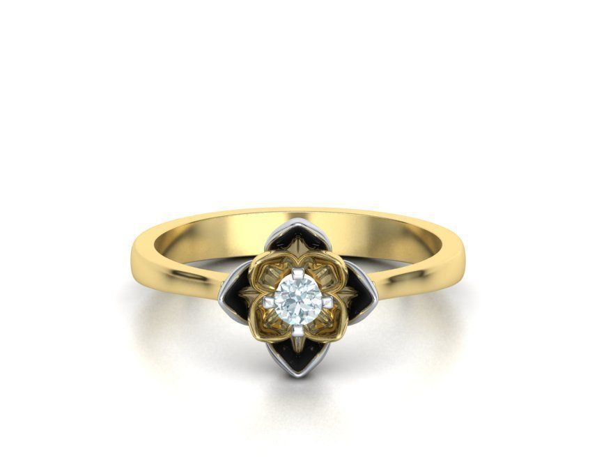 Engagement Ring Lotus