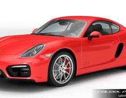 3D model Porsche Cayman GTS 2018