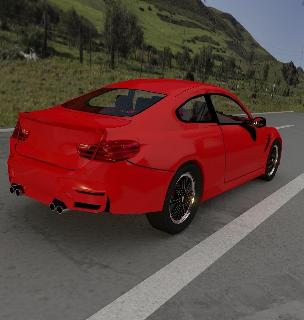 BMW M4 3D Model .obj .3ds .fbx .blend .dae .mtl