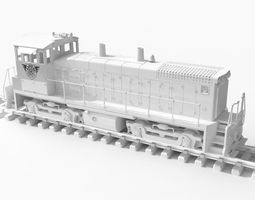 3d printable model openrailway emd sw1500 locomotive