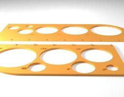 3d print model drafting rulers