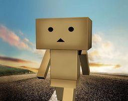 Box Man 3D Model