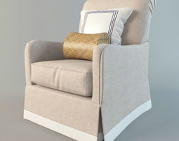 romantic armchair 3D Model