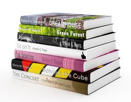 3d model books set 14