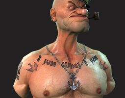 Popeye the Sailor man 3D Model