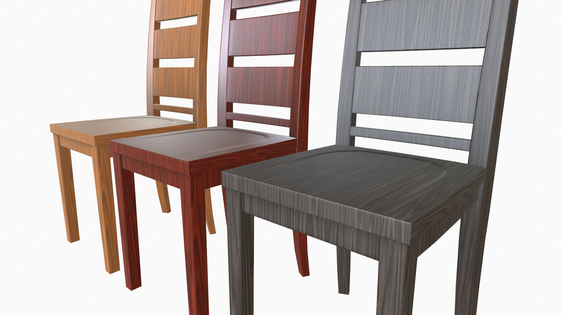 3d model simple wooden dining chair cgtrader