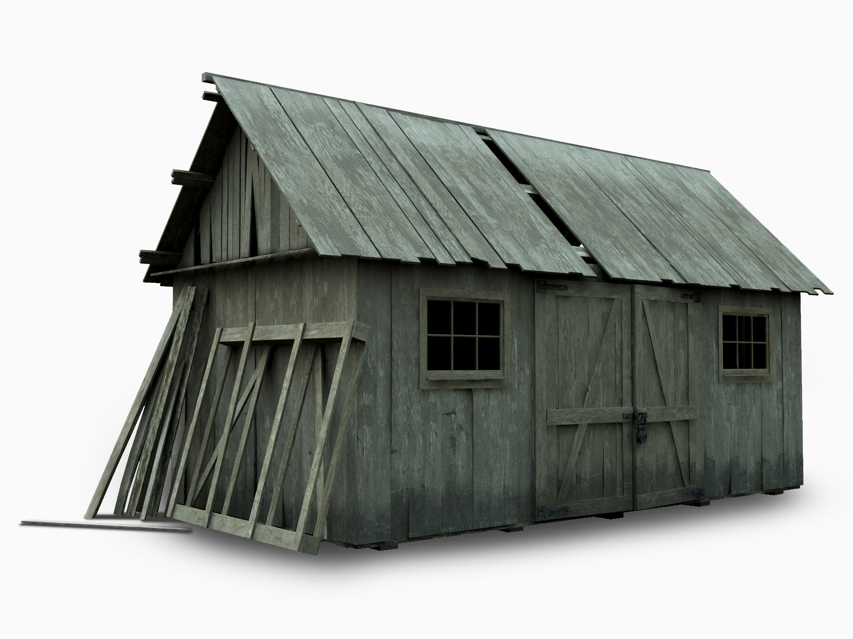 Barn house 3d model max obj 3ds fbx for 3d model of house