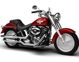Harley-Davidson FLSTF Softail Fat Boy 2015 3D Model