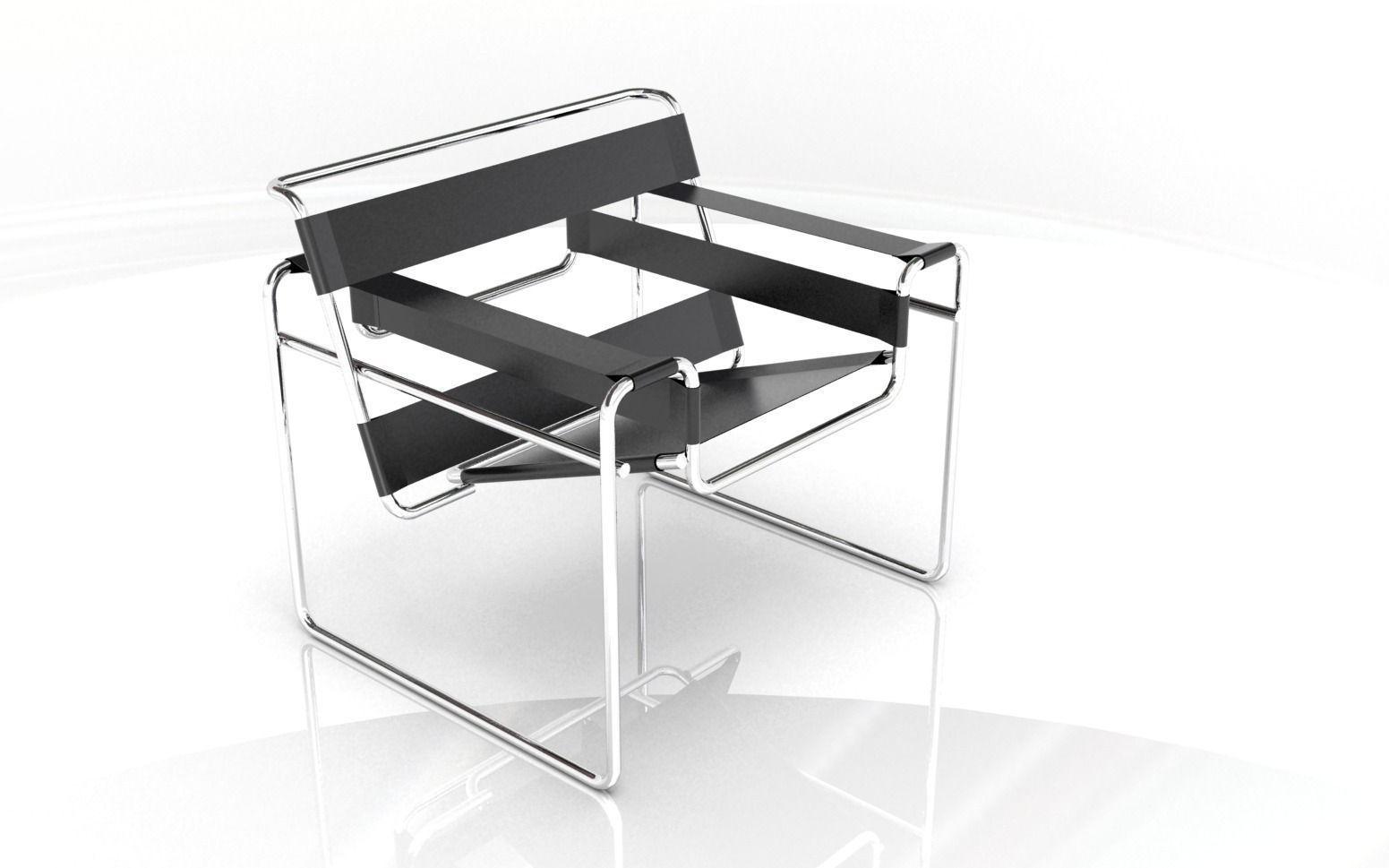 breuer chair 3d model 3dm 1