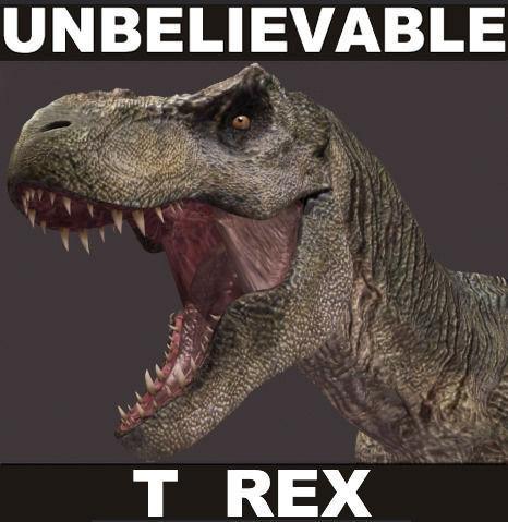 The CINEMA T Rex - 3d model a