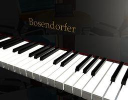game-ready Vertical Bosendorf - 3d model