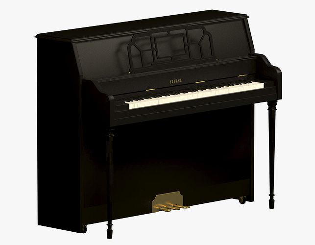 3d yamaha upright piano cgtrader for Yamaha upright piano models