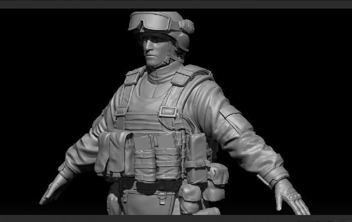 High res Soldier Model 1