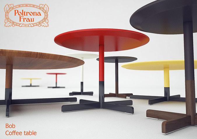 Coffee Table Poltrona Frau Bob 3d Model Cgtrader