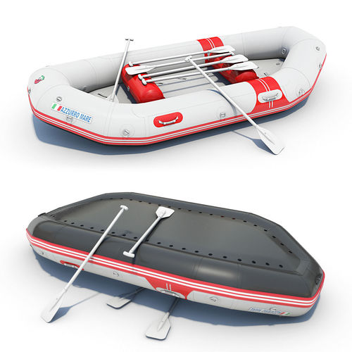 Inflatable Boat Raft 023D model