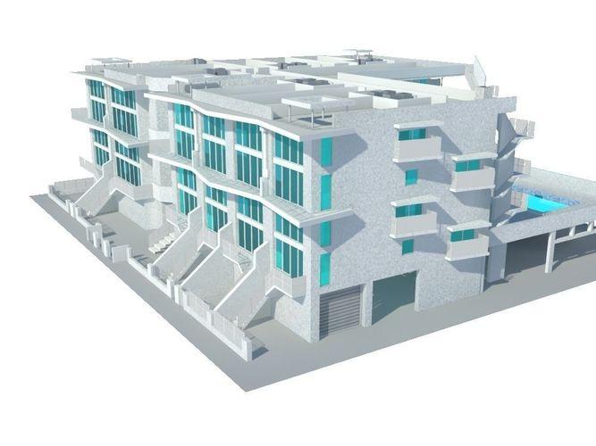 Residential Building3D model