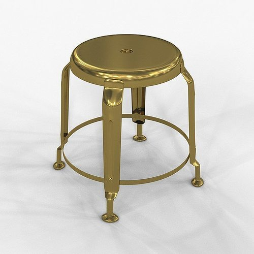 Stool Define Gold By Doctor House 3D Model MAX