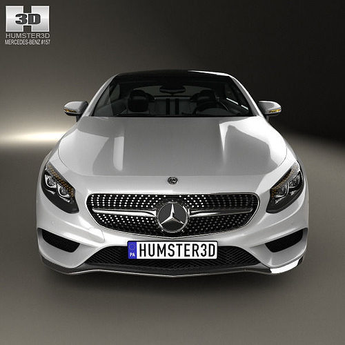 mercedes benz s class coupe amg sports package 2014 3d model max obj 3ds