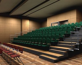 theater retractable seats 3D