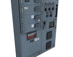 PBR switchgear 3d asset low-poly