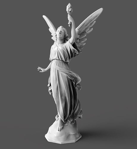 goddess statue 3d model obj mtl stl 1