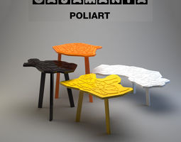 Casamania Poliart table 3D Model