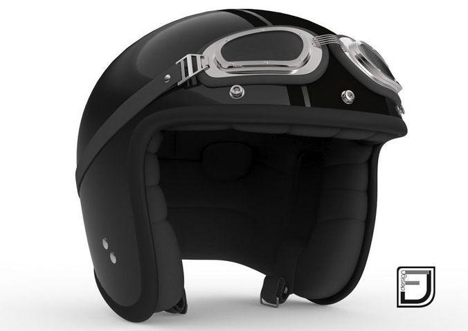 Black R Helmet H093D model