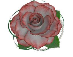 rose in a banana leaf 3d model