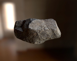 Rock 3D asset realtime PBR