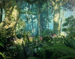 3D model Rainforest 001