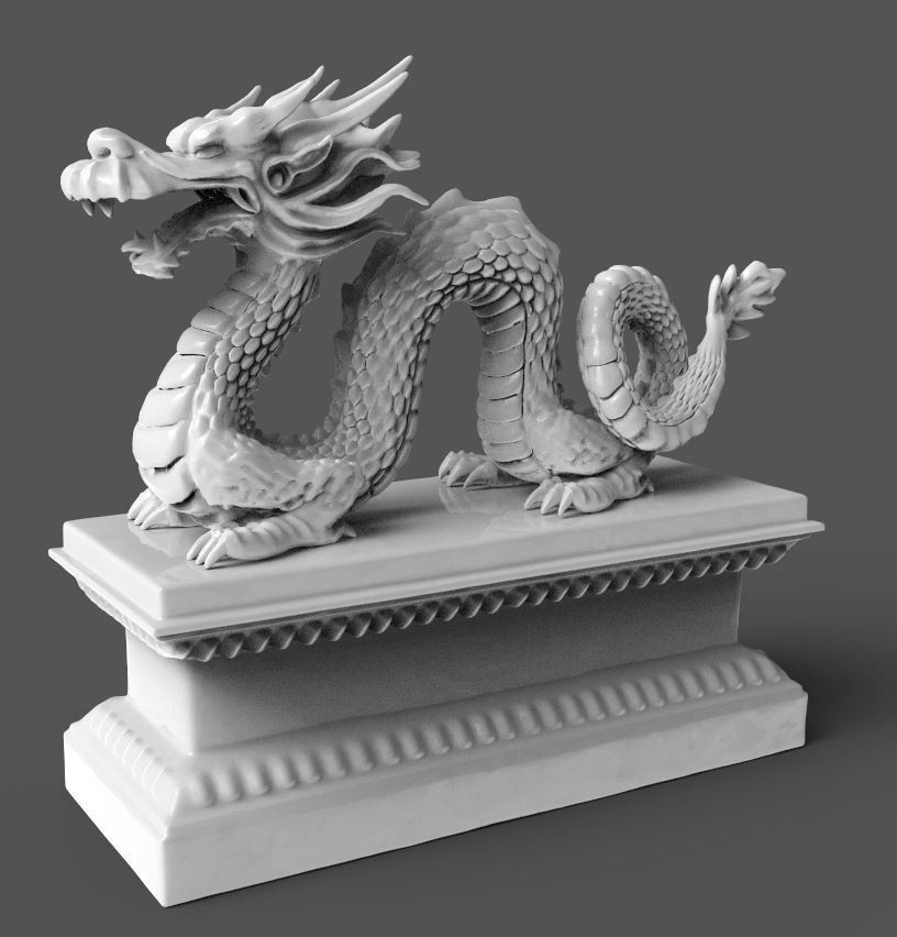 Chinese Dragon 3d Model 3d Printable Obj Stl Ztl