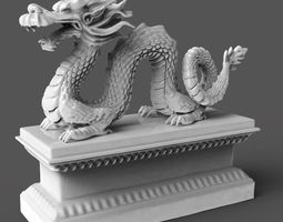 chinese dragon 3d print model