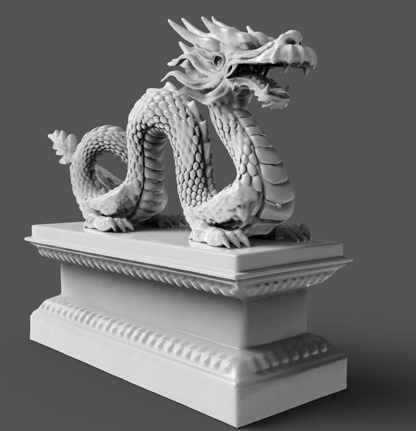 Chinese Dragon 3d Model 3d Printable Obj Stl Ztl