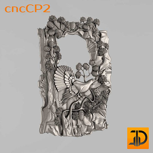 carved panels 3d model dxf stl 1