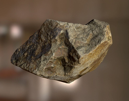 3D asset game-ready PBR Rock