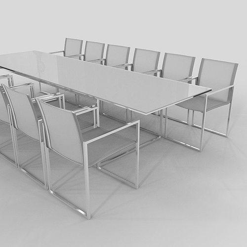 chair and table outdoor royal botania ninix d model max