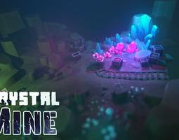 3D asset Crystal Mine