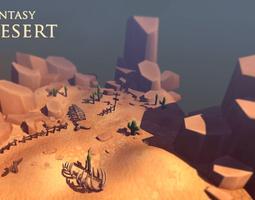 Fantasy Desert 3D Model