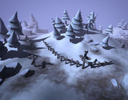 3D asset realtime Winter Forest