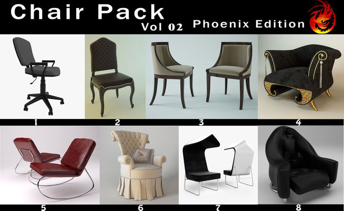 chair pack phoenix edition vol 02 3d model max 1