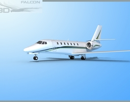 rigged Falcon3D Citation Sovereign C680 FS11